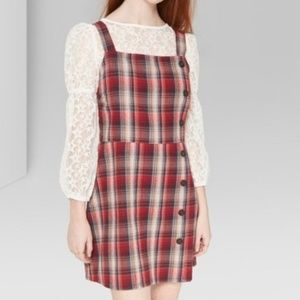 WILD FABLE RED PLAID BUTTON SKATER DRESS IN SZ XL